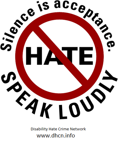 No to hate. Silence is acceptance. Speak out.